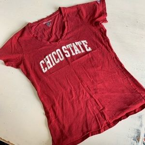 Chico State college shirt Champion v neck